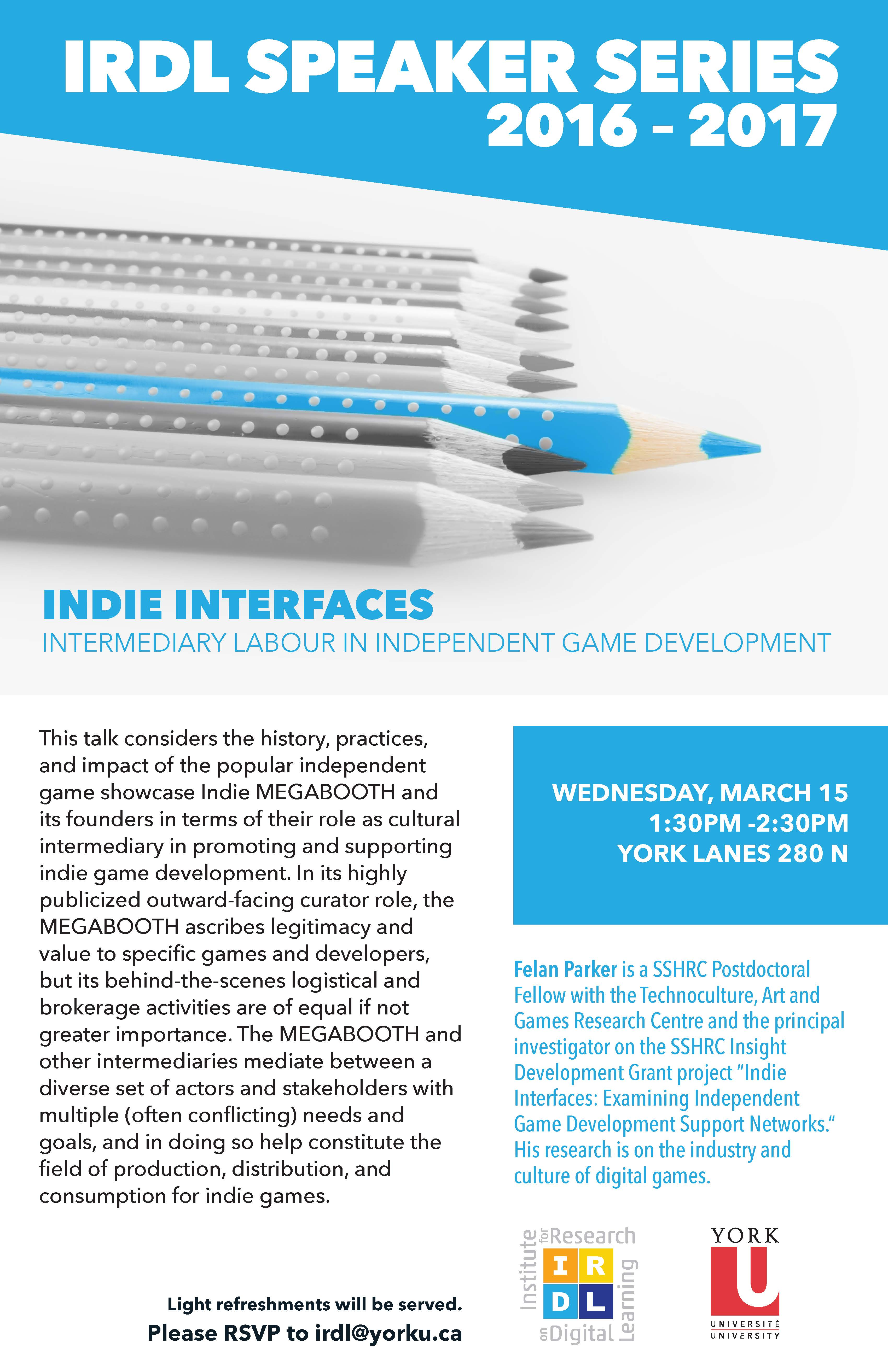 Indie Interfaces: Intermediary Labour in Independent Game Development