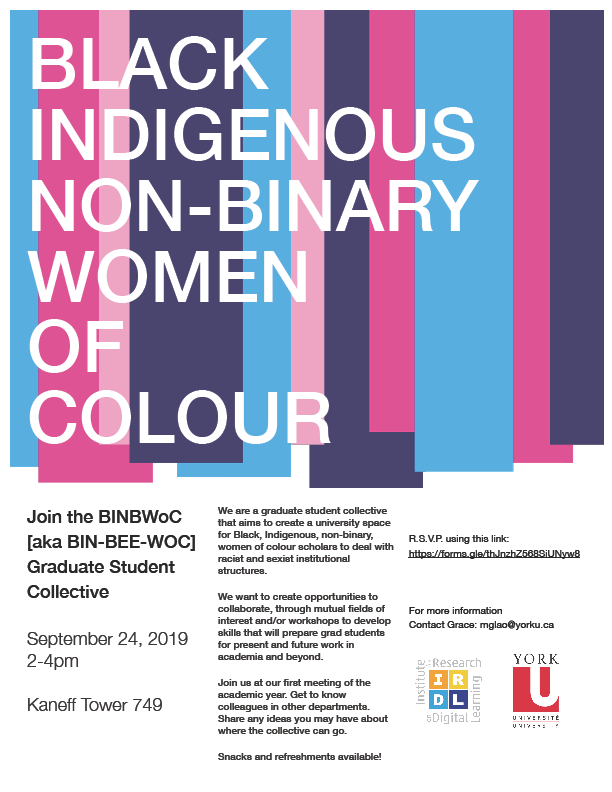 Join the BINBWoC [aka BIN-BEE-WOC] Graduate Student Collective