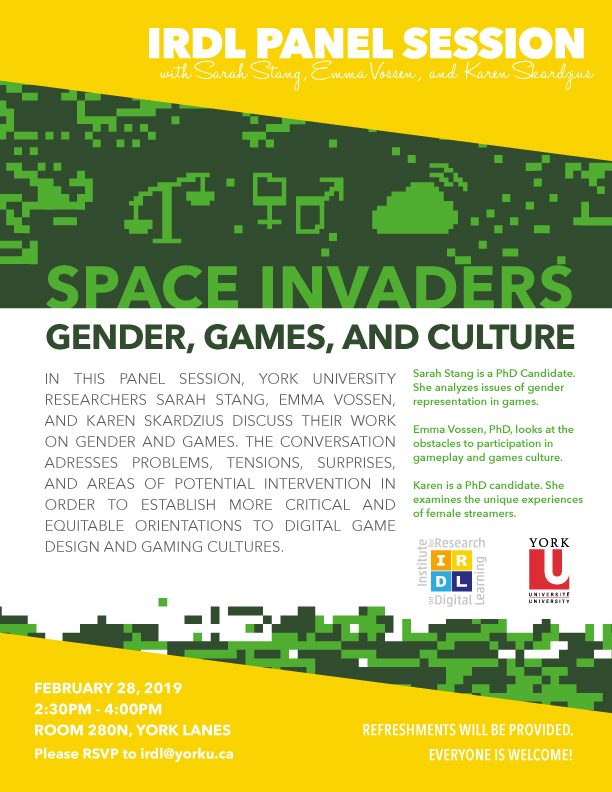 Space Invaders: Gender, Games, and Culture Panel